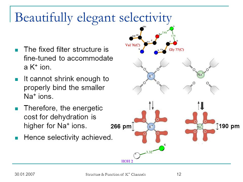 Beautifully elegant selectivity