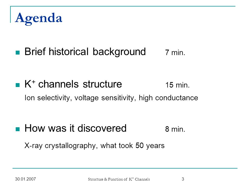 Agenda Brief historical background 7 min.