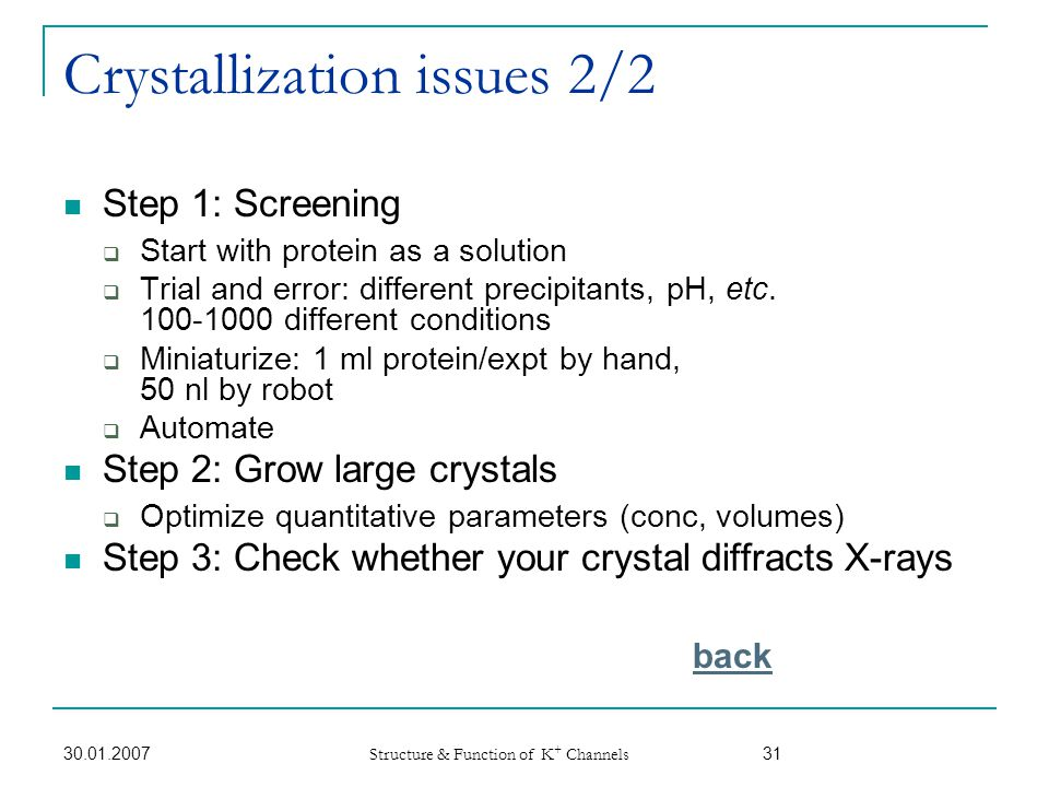 Crystallization issues 2/2