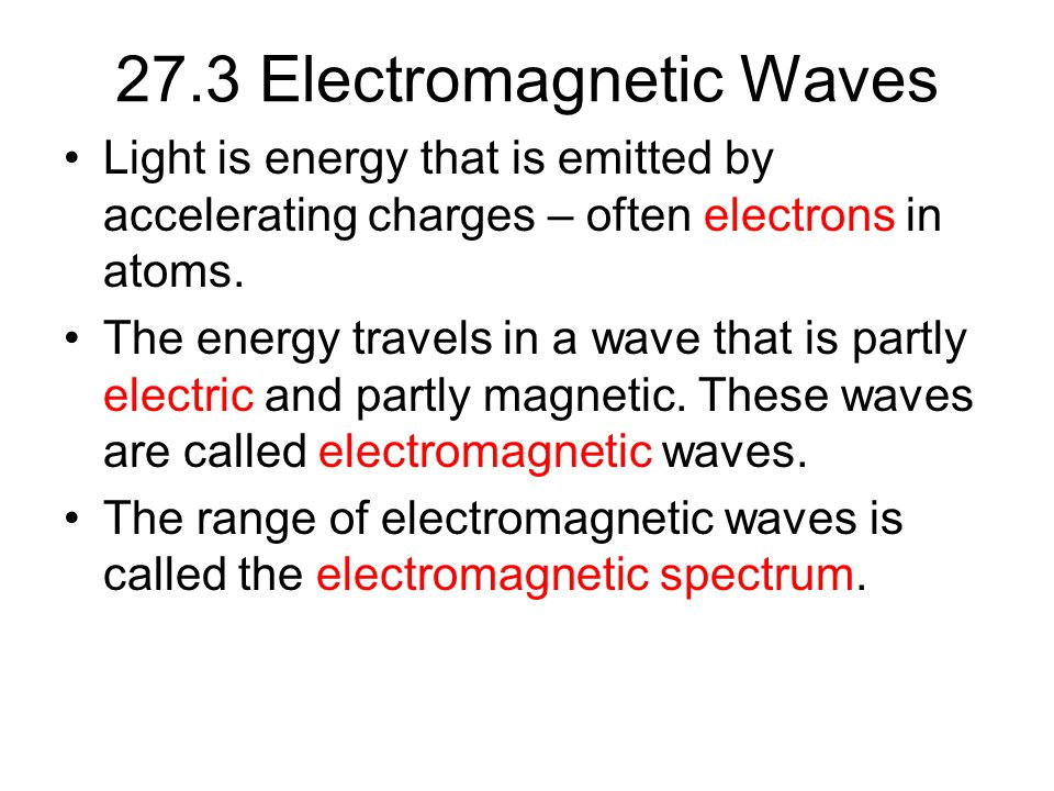 27.3 Electromagnetic Waves