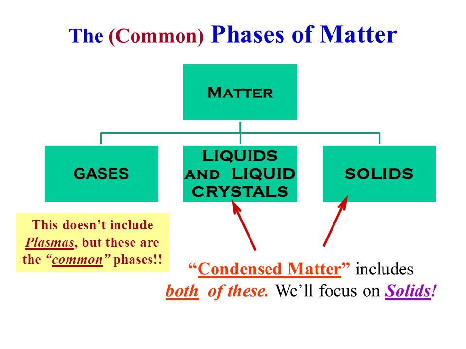The (Common) Phases of Matter