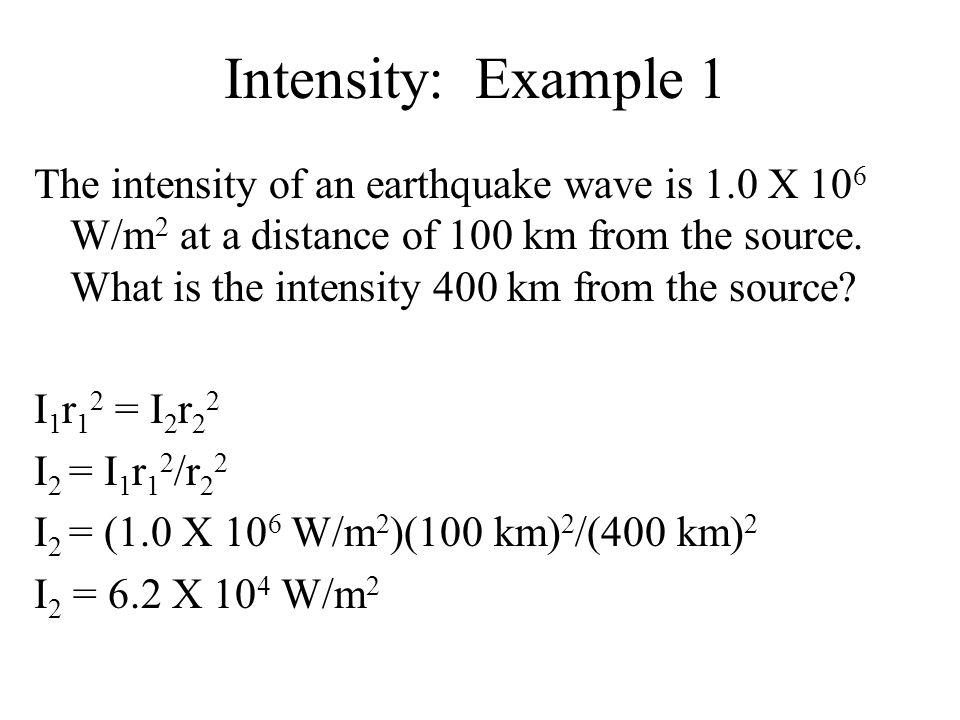 Intensity: Example 1