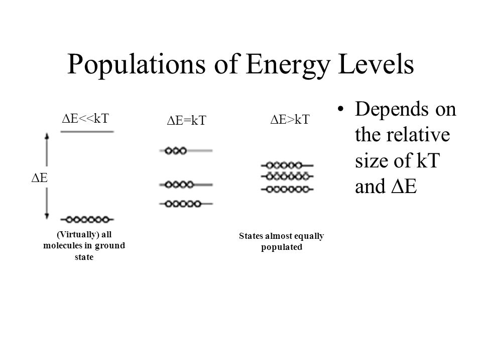 Populations of Energy Levels