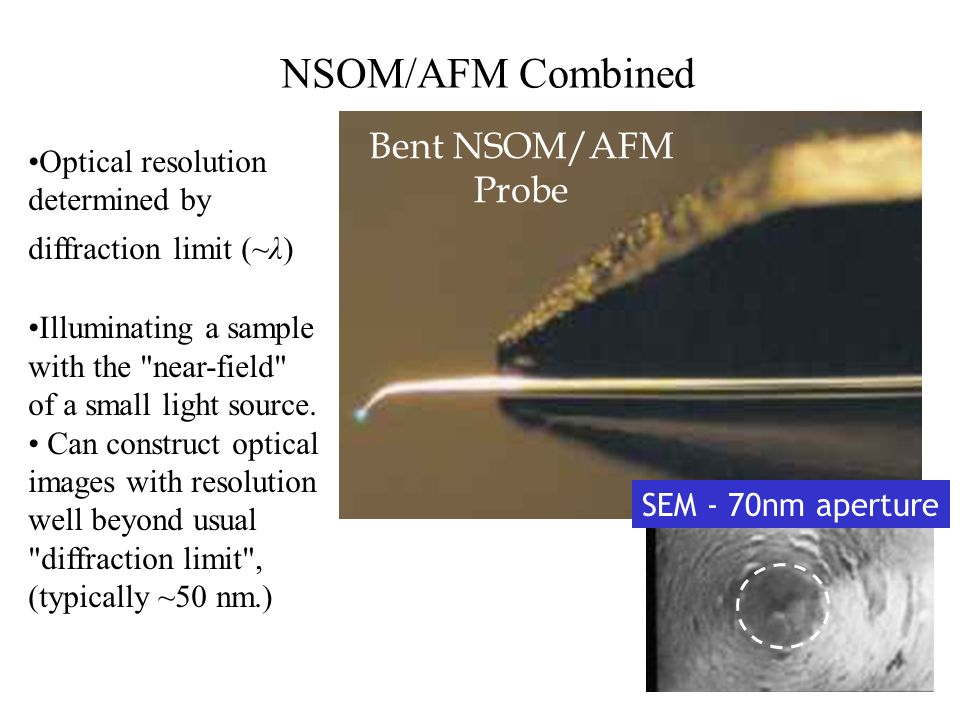 NSOM/AFM Combined Bent NSOM/AFM Probe