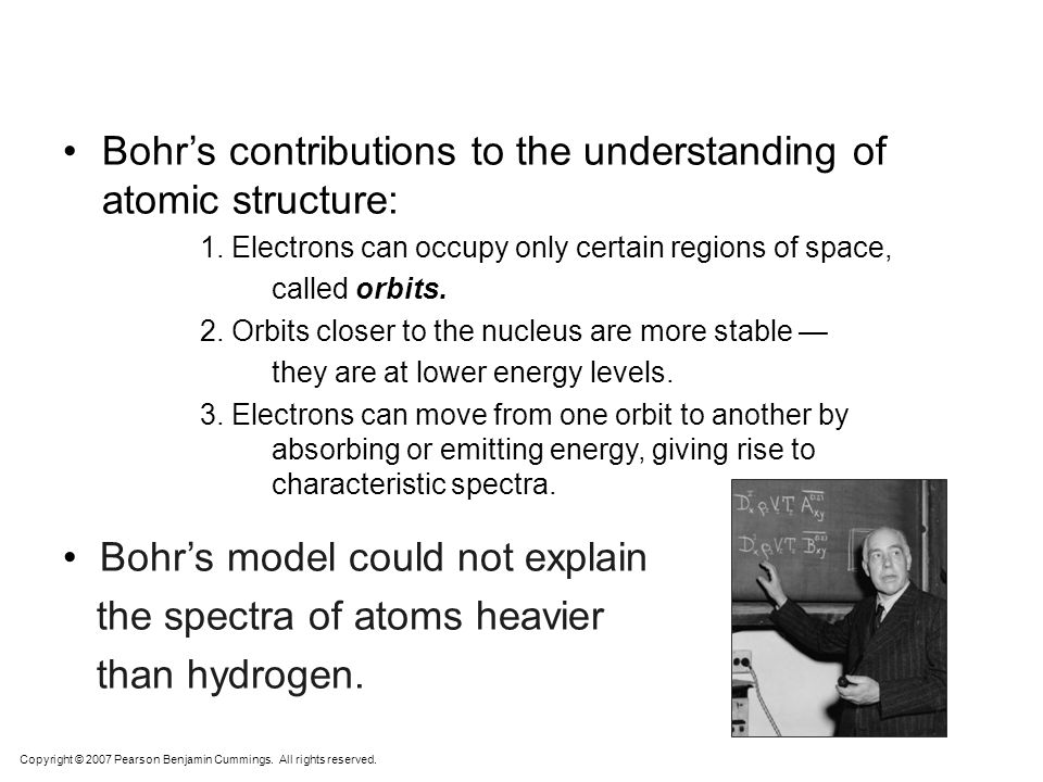 Bohr's contributions to the understanding of atomic structure: