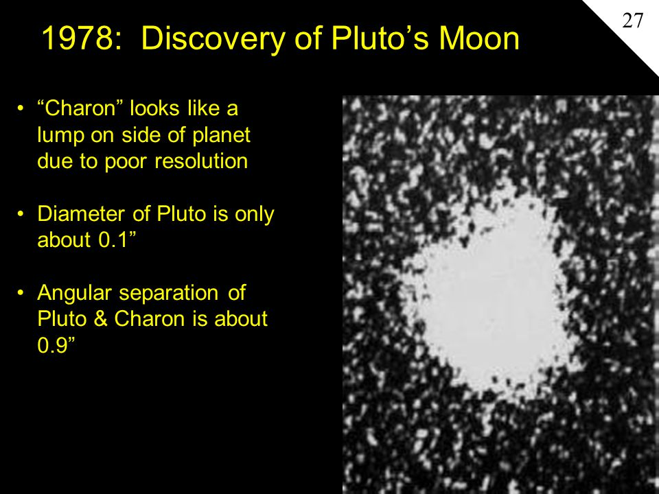 1978: Discovery of Pluto's Moon