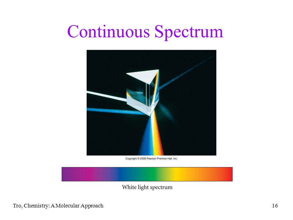 Continuous Spectrum Tro, Chemistry: A Molecular Approach