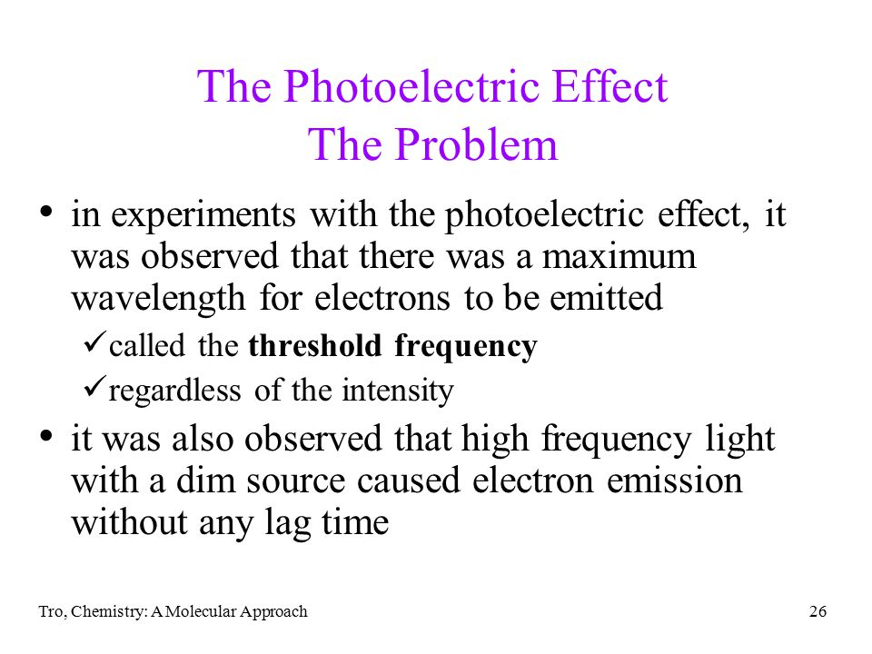 The Photoelectric Effect The Problem