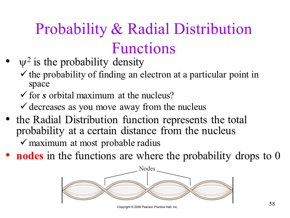 Probability & Radial Distribution Functions
