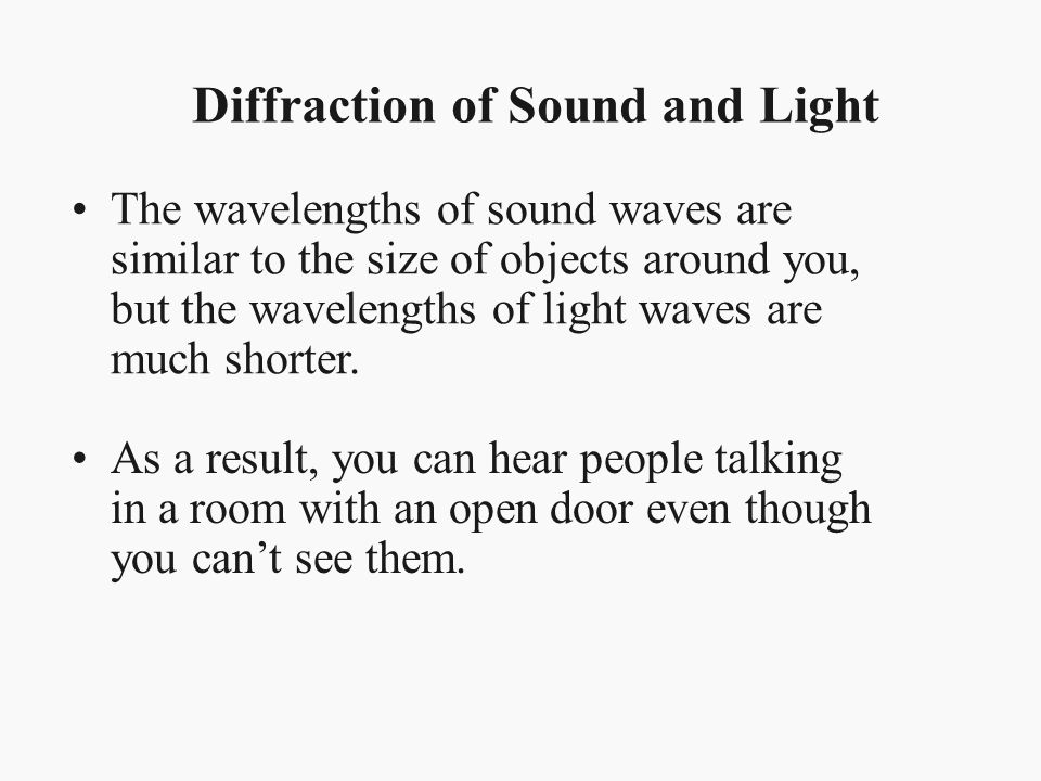 Diffraction of Sound and Light