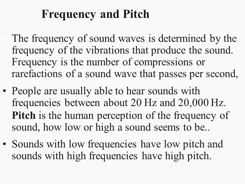 Frequency and Pitch
