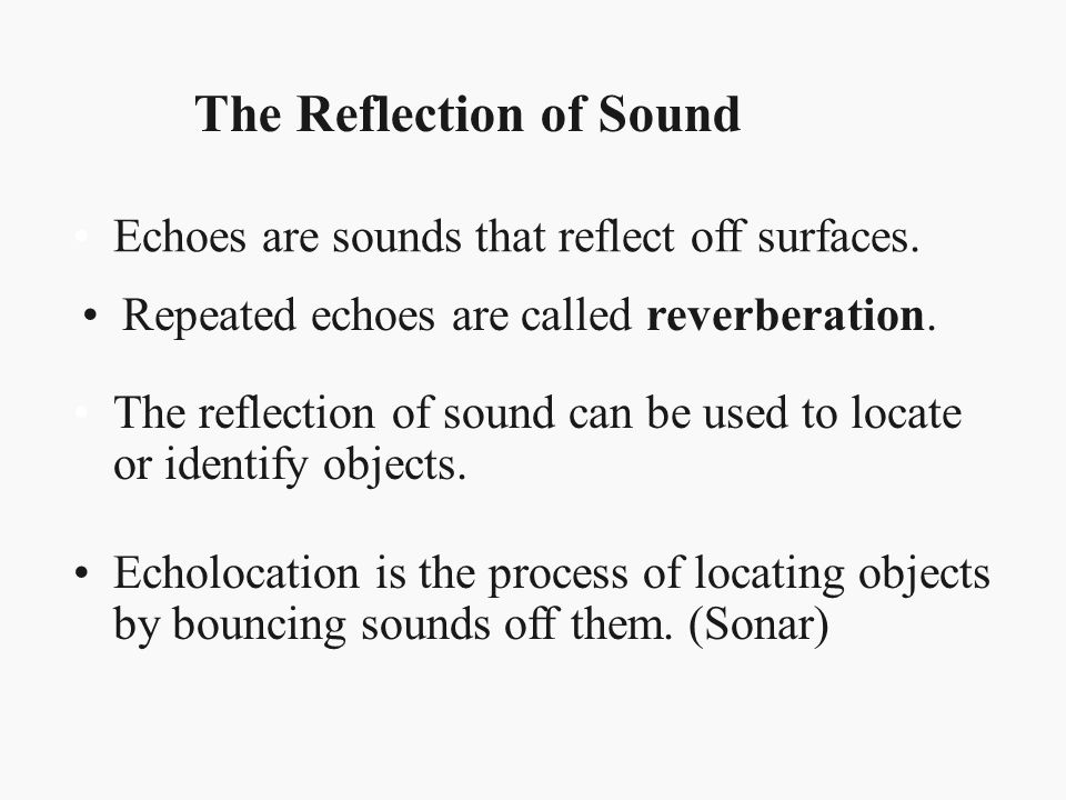 The Reflection of Sound
