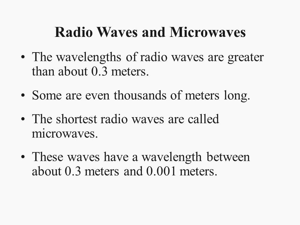 Radio Waves and Microwaves