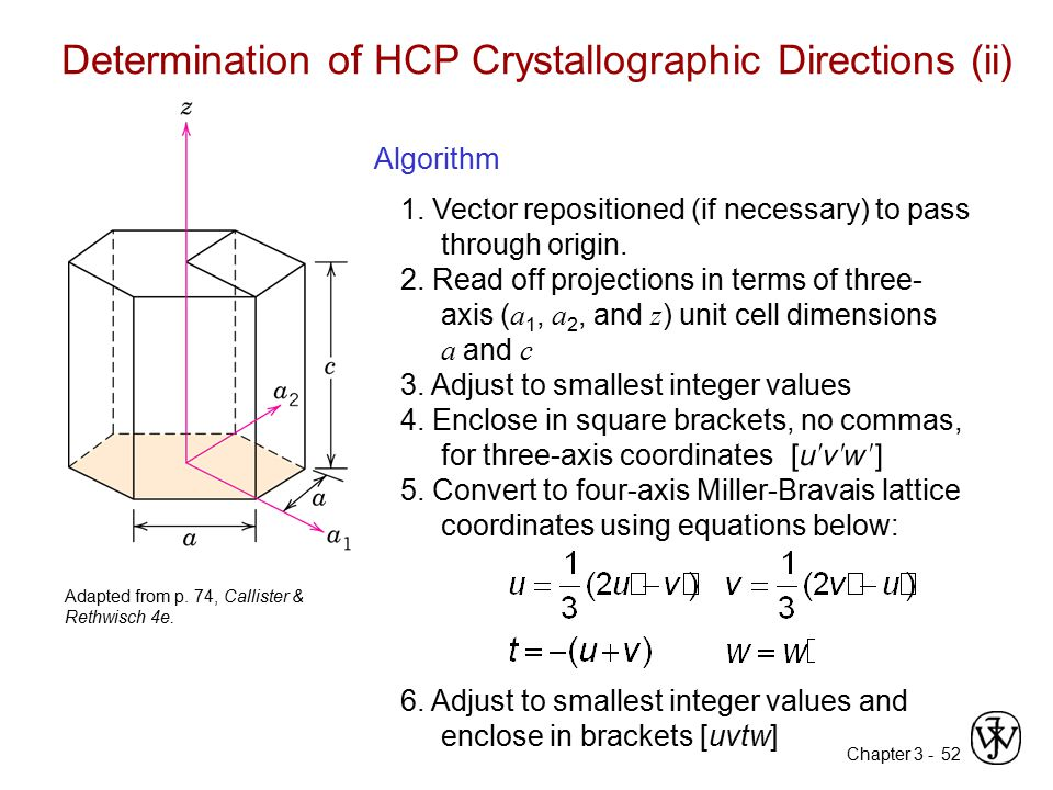 Determination of HCP Crystallographic Directions (ii)
