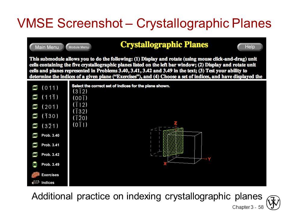 VMSE Screenshot – Crystallographic Planes