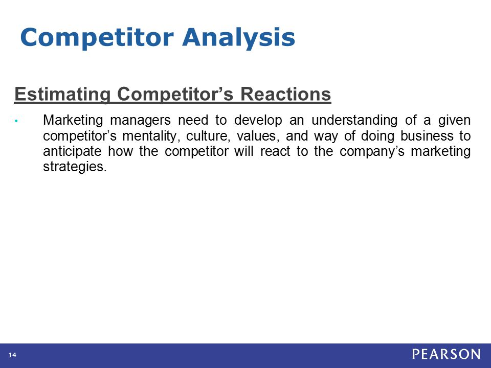 Competitor Analysis Selecting Competitors to Attack and Avoid