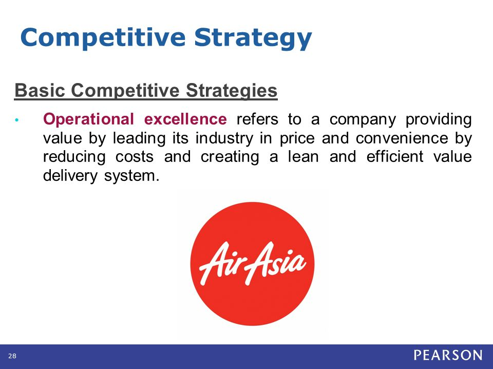 Competitive Strategy Basic Competitive Strategies