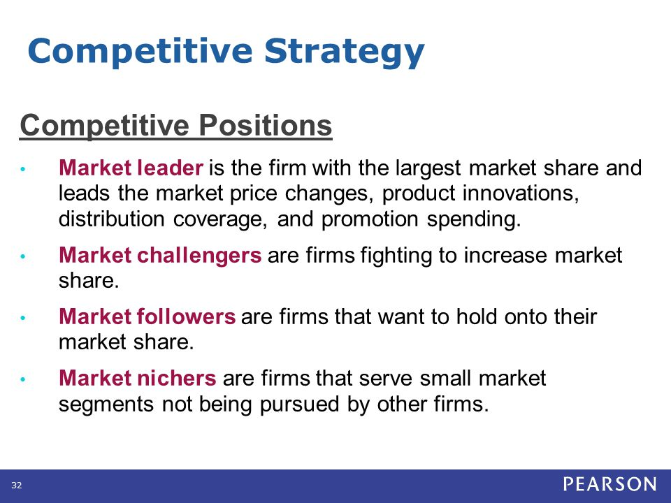Competitive Strategy Market Leader Strategies Expand total demand
