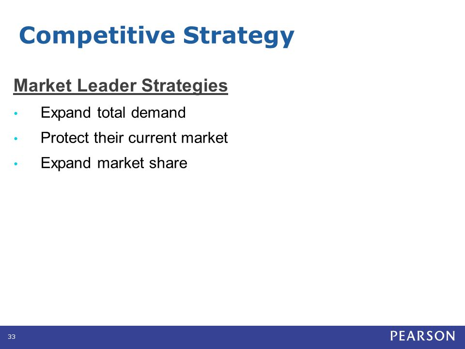 Competitive Strategy Market Leader Strategies