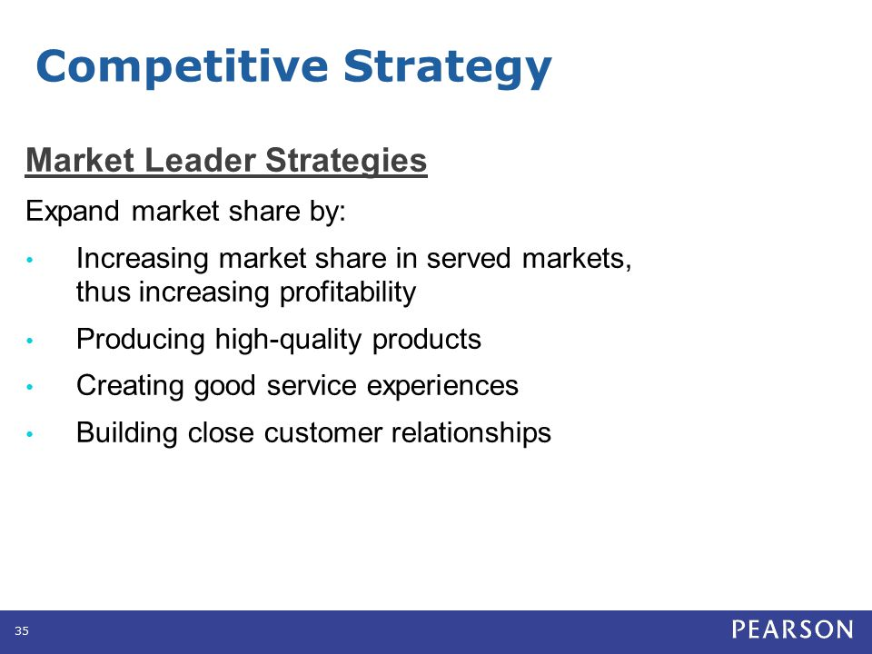 Competitive Strategy Market Challenger Strategies