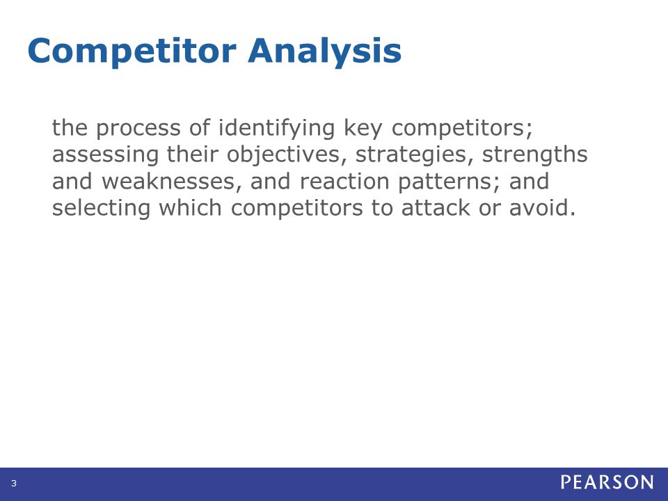 Competitor Analysis Identifying Competitors Competitors can include: