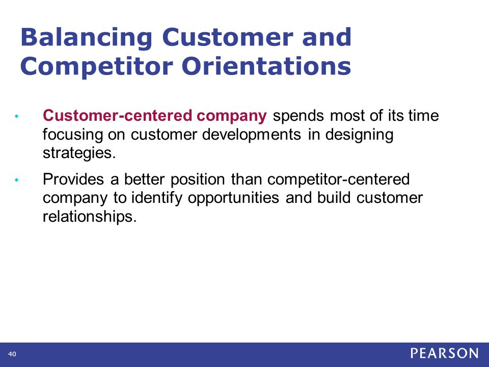 Balancing Customer and Competitor Orientations