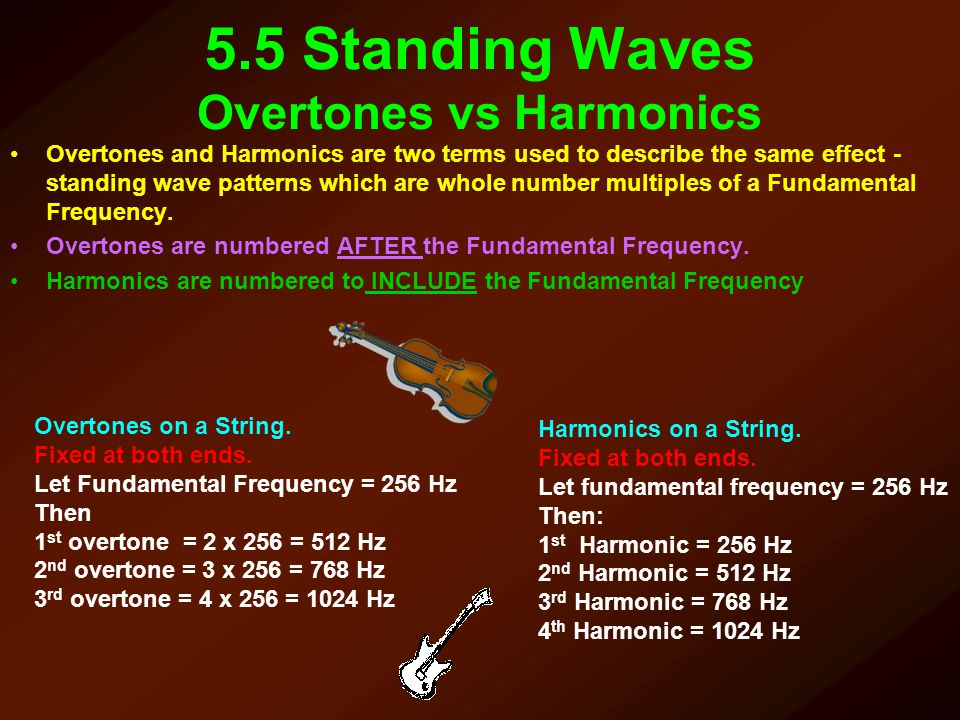 5.5 Standing Waves Overtones vs Harmonics