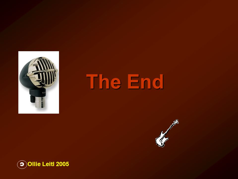 The End C Ollie Leitl 2005