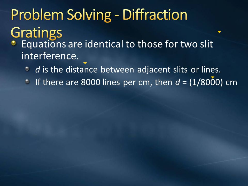 Problem Solving - Diffraction Gratings
