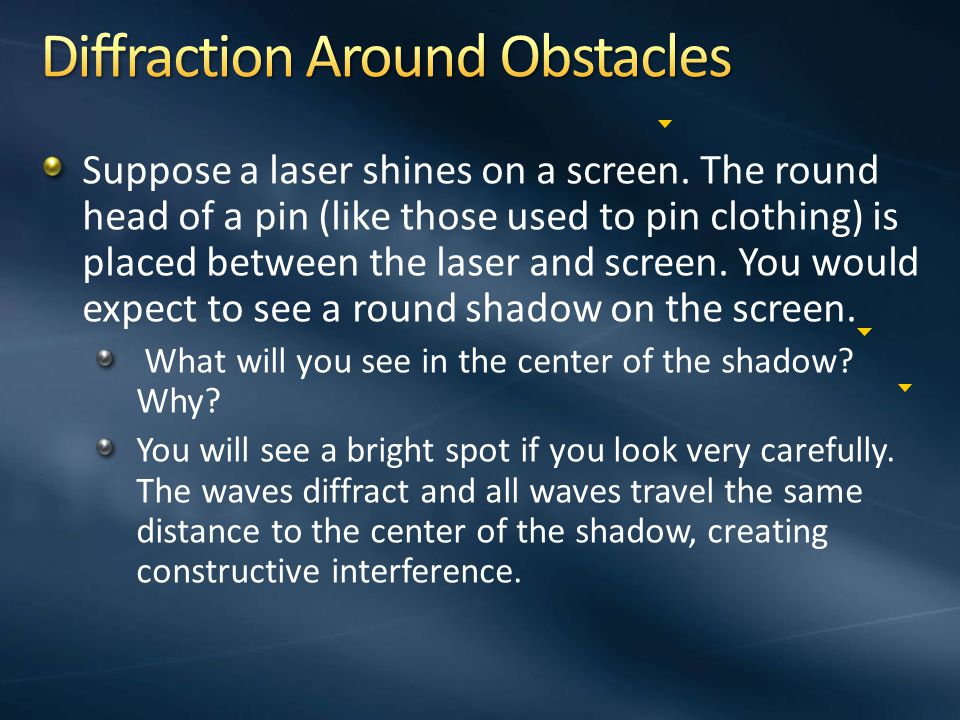 Diffraction Around Obstacles