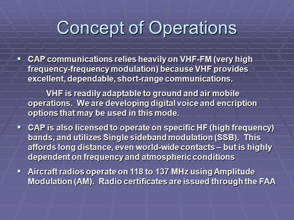 Concept of Operations