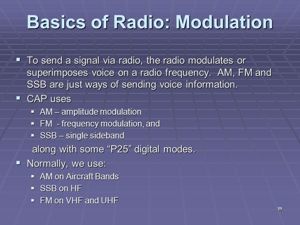 Basics of Radio: Modulation