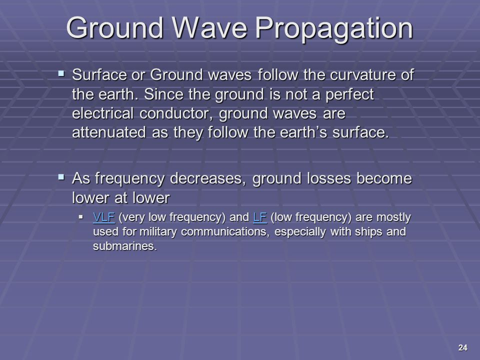 Ground Wave Propagation
