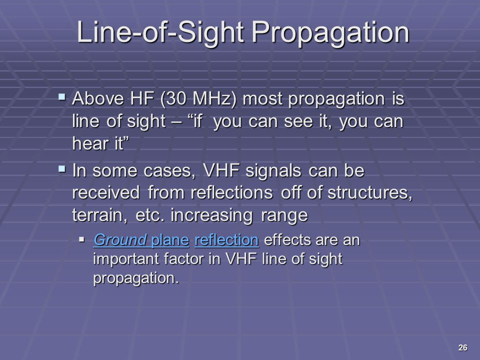 Line-of-Sight Propagation