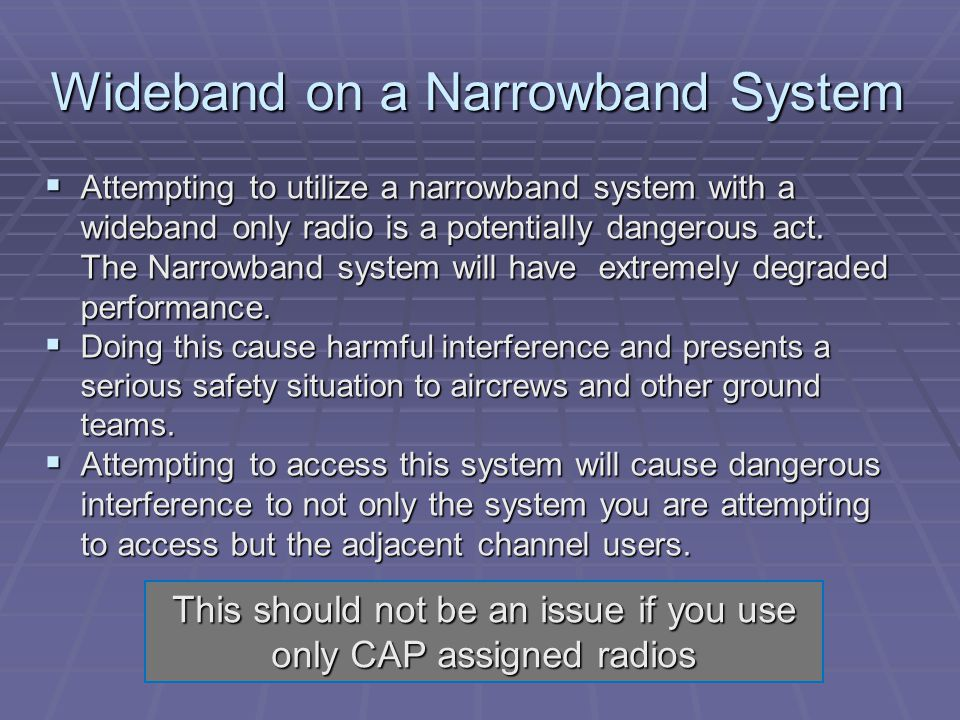 Wideband on a Narrowband System
