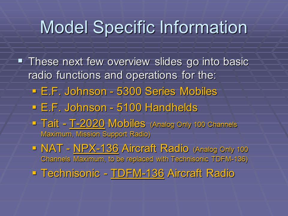 Model Specific Information
