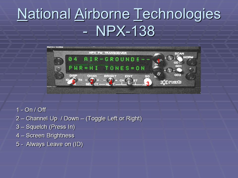 National Airborne Technologies - NPX-138