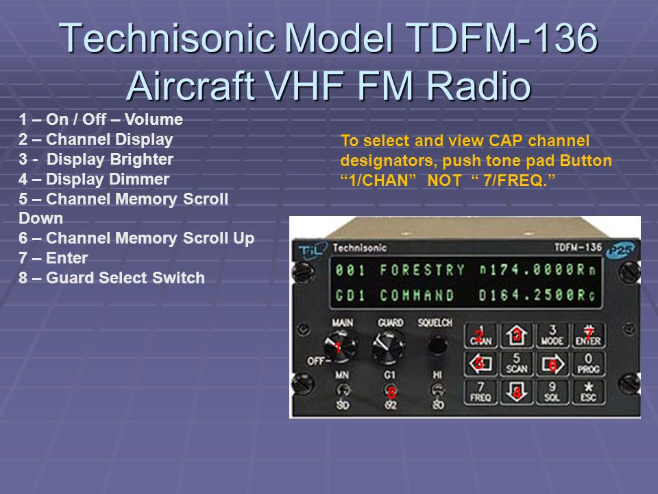 Technisonic Model TDFM-136 Aircraft VHF FM Radio