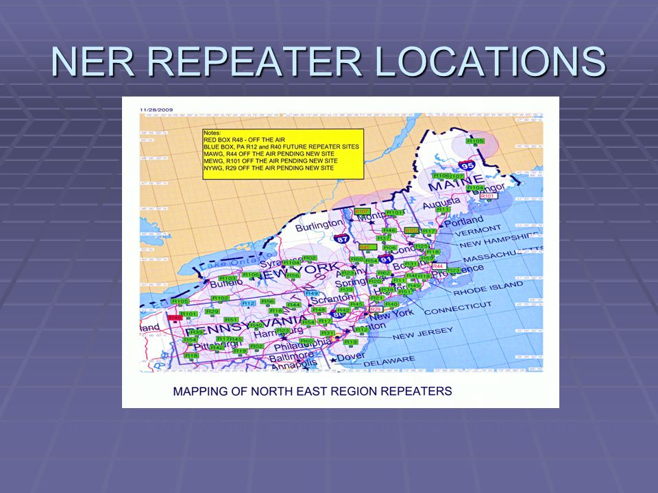 NER REPEATER LOCATIONS