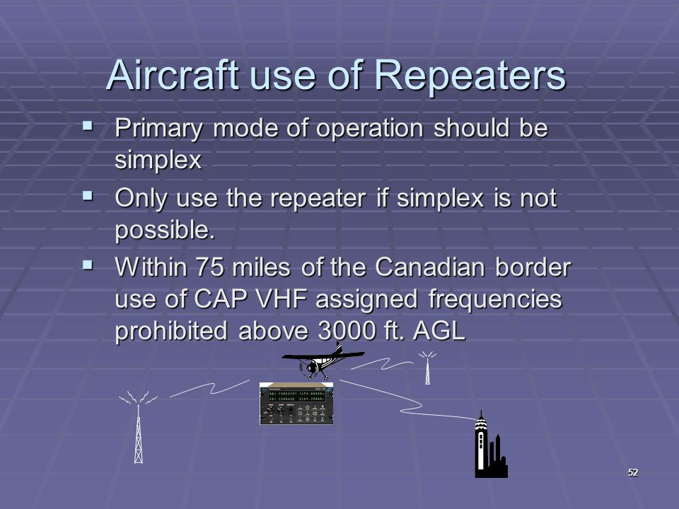 Aircraft use of Repeaters