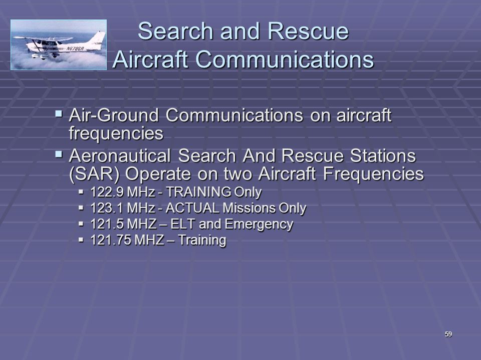 Search and Rescue Aircraft Communications