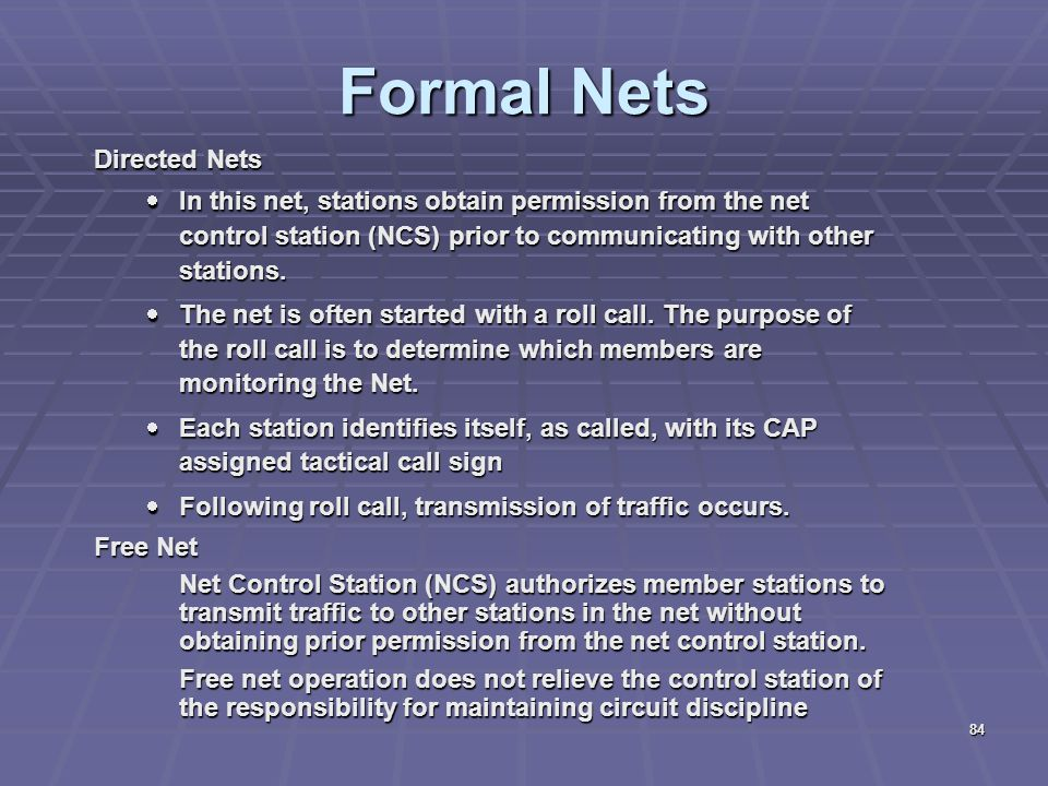 Formal Nets Directed Nets