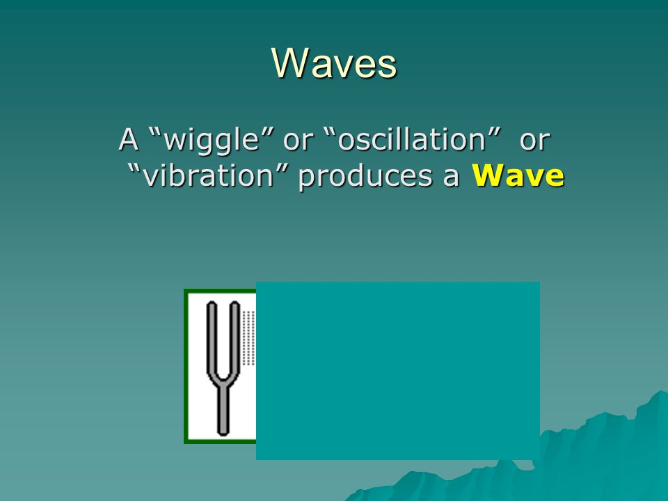 A wiggle or oscillation or vibration produces a Wave