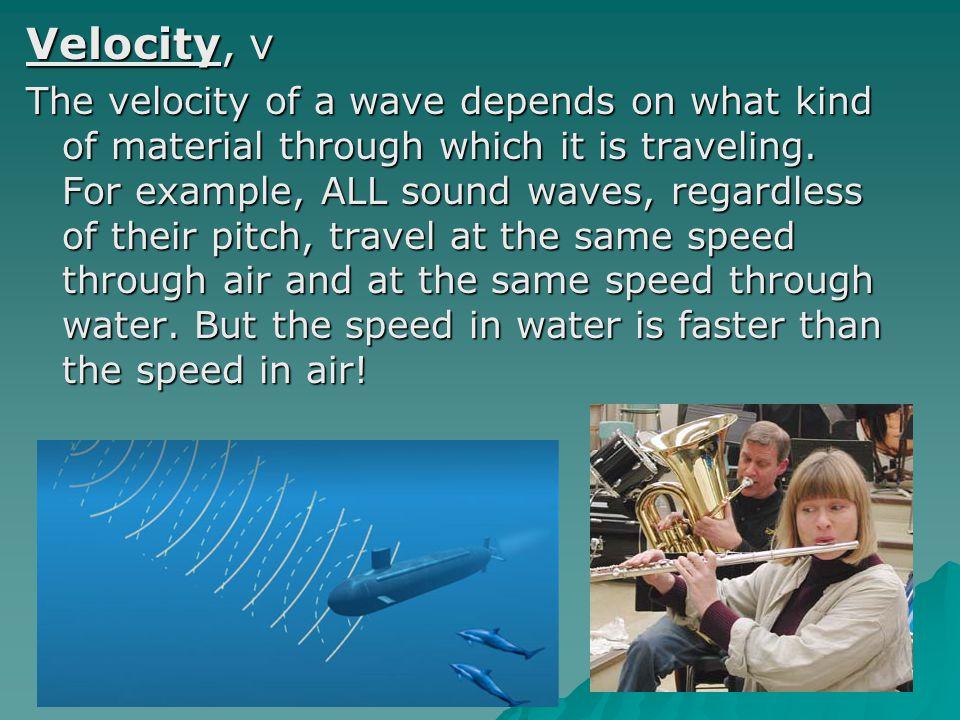 Velocity, v