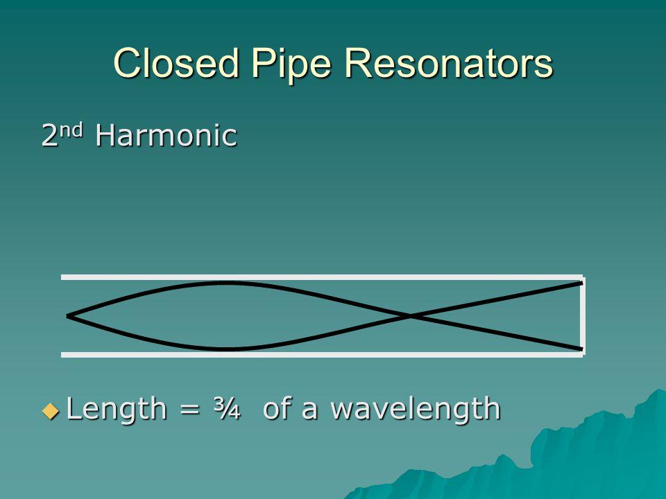 Closed Pipe Resonators