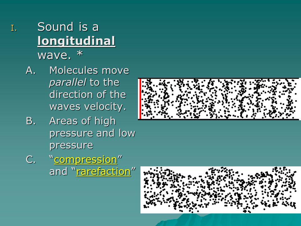 Sound is a longitudinal wave. *