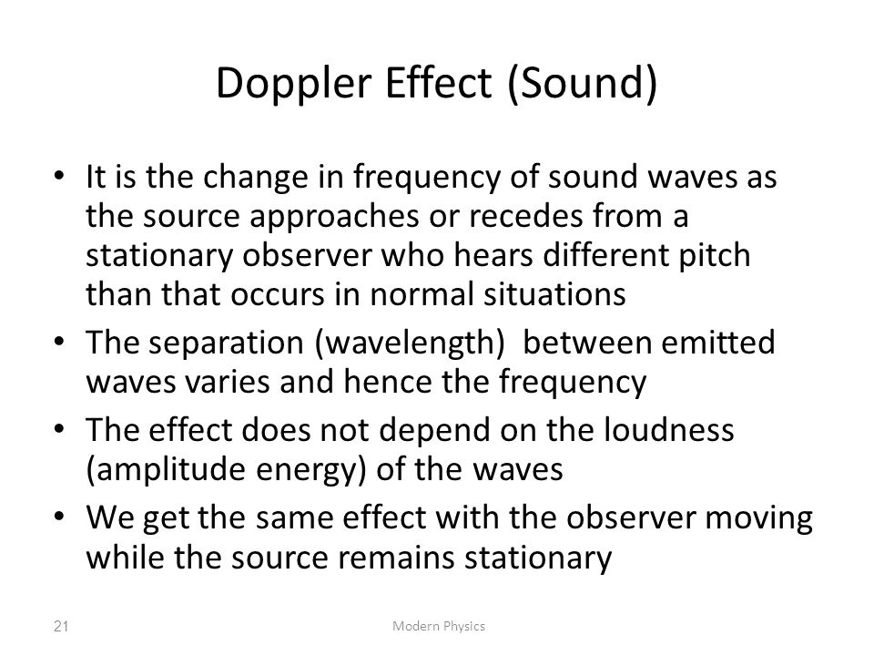 Doppler Effect (Sound)