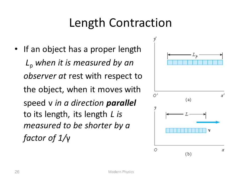 Length Contraction If an object has a proper length