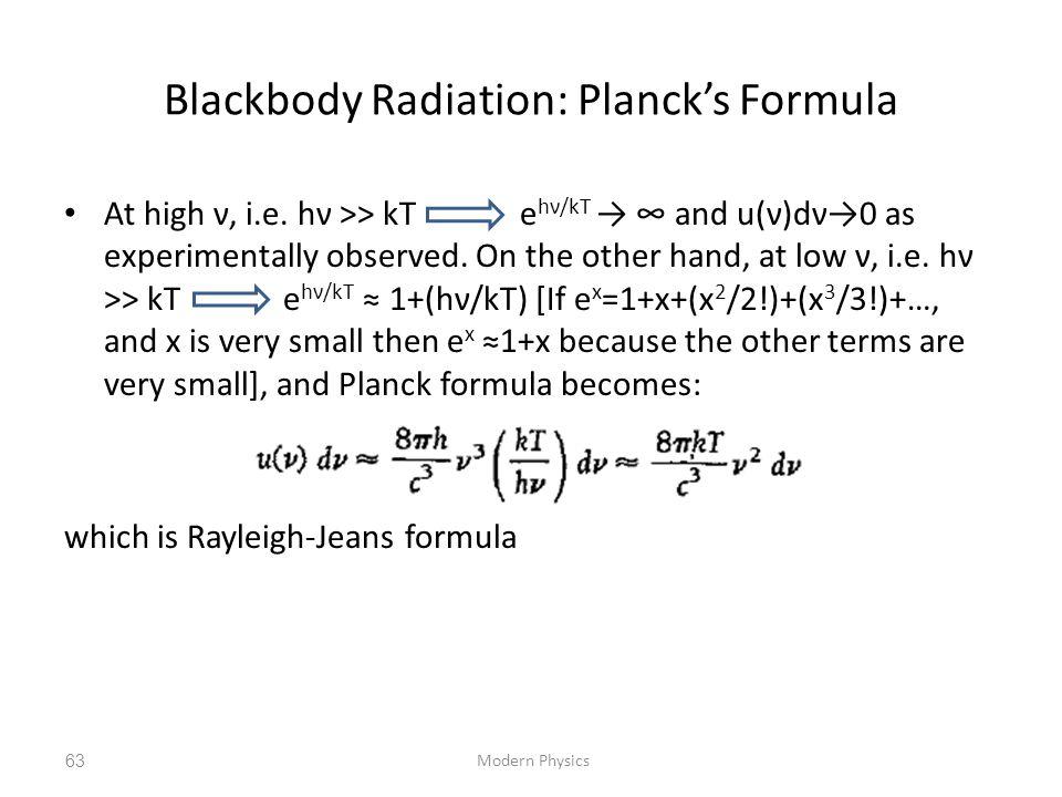 Blackbody Radiation: Planck's Formula