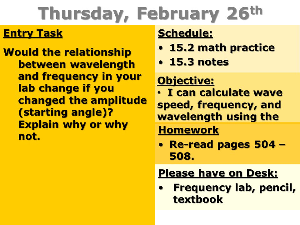Thursday, February 26th